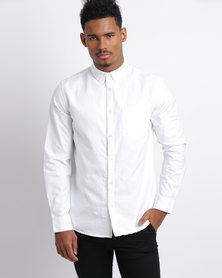 New Look Oxford Long Sleeve Shirt White