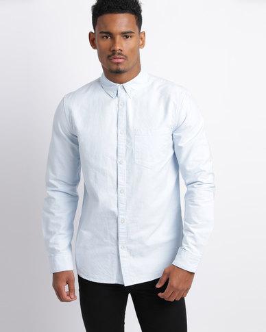 New Look Oxford Long Sleeve Shirt Light Blue