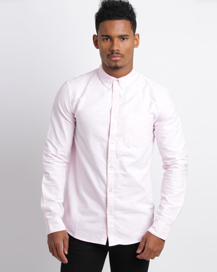 New Look Oxford Long Sleeve Shirt Pink
