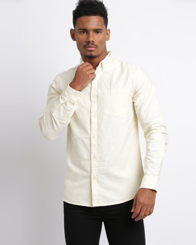 New Look Oxford Long Sleeve Shirt Yellow