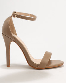 Utopia Barely There Sandals Nude