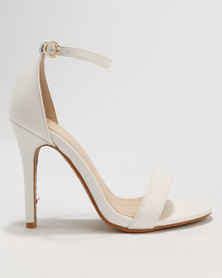 Utopia Barely There Sandals White
