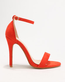 Utopia Barely There Sandals Orange