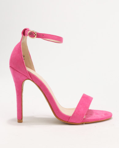 Utopia MF Barely There Heels Sherbet Pink