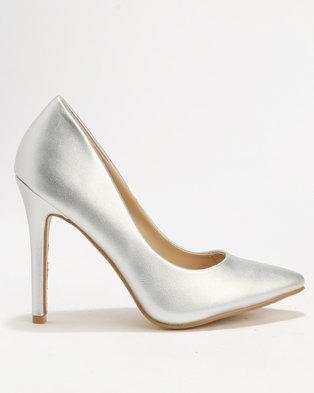 Utopia Pointy Court Shoe Silver