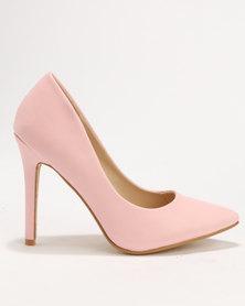 Utopia Pointy Court Shoe Blush
