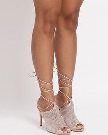 Miss Black Clarkson Heel Sandals Gold