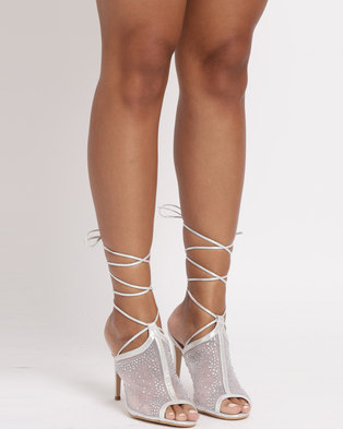 Miss Black Clarkson Heel Sandals Silver