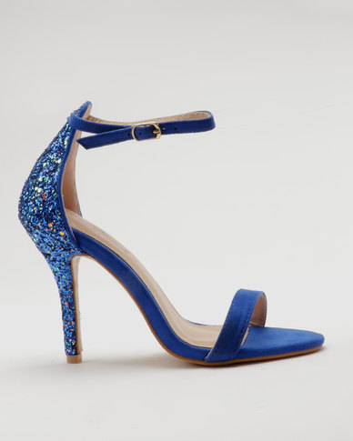 Miss Black Collin Heel Sandals Blue