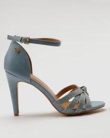 Miss Black Cohen Heel Sandals Blue