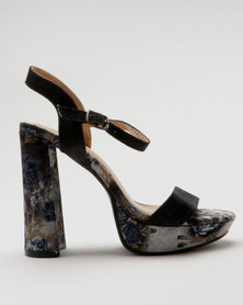 Miss Black Jenny Platform Sandals Black