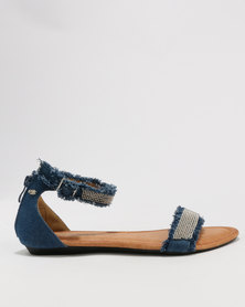 Miss Black Blahnik Sandals Blue