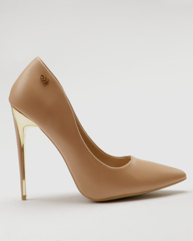 Miss Black Toni Court Heels Nude