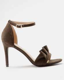 Miss Black Ray Heeled Sandals Olive