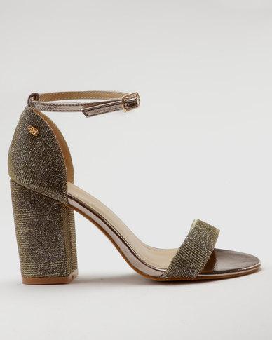 Miss Black Leen Heel Sandals Pewter