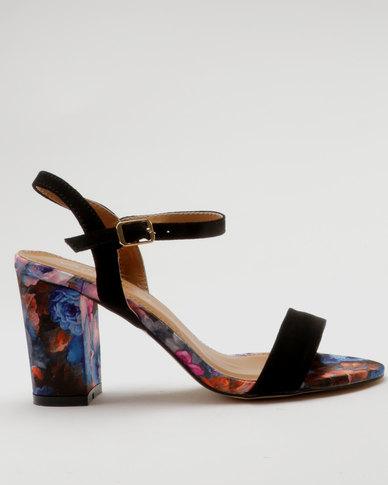 Miss Black Aitor Heel Sandals Black
