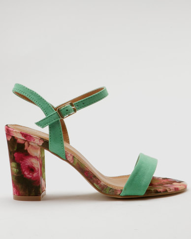 free shipping cheap outlet cheapest price Miss Black Miss Black Aitor Heel Sandals Green discount supply latest collections sale online vJKIckr8