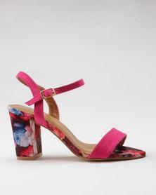 Miss Black Aitor Heel Sandals Pink
