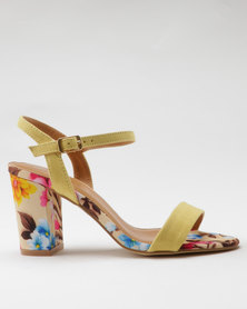 Miss Black Aitor Heel Sandals Yellow