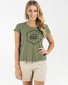 Roxy Boogie Board T-Shirt 2 Dusty Olive