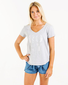 Roxy Just Simple T-Shirt Grey