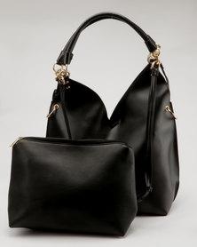 Miss Black Dakota Hobo Bag Black
