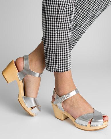 Swedish Hasbeen Mirja Sandals Silver