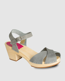 Swedish Hasbeen Mirja Sandals Grey