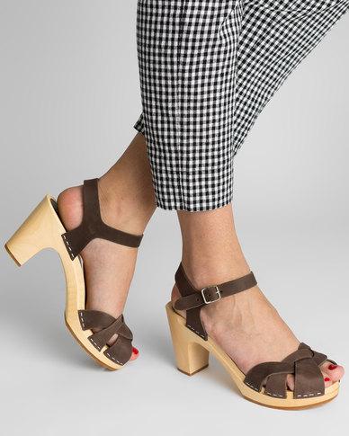 Inexpensive cheap online Swedish Hasbeen Swedish Hasbeen Kringlan High Sandals Chocolate Brown cheap best wholesale hRXIBlM