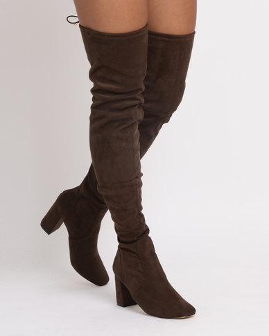 61dcbb8830c Dolcis Elana Over The Knee Boot Khaki