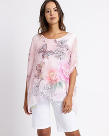 Queenspark Quintessential Woven Blouse Pink