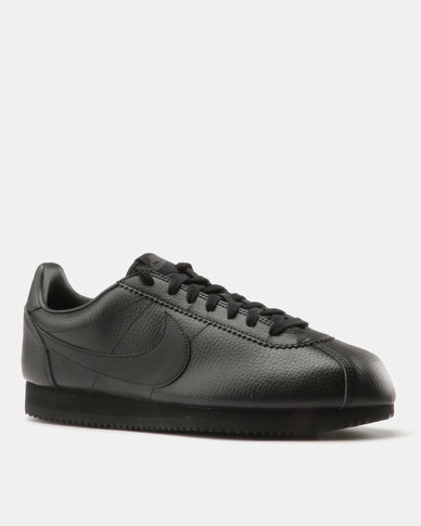 official photos d2cab 45400 Nike Classic Cortez Leather Sneakers Black