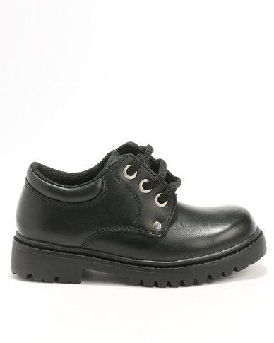 1645b5774831 Bronx Boys Pluto Lace Up School Shoe Black