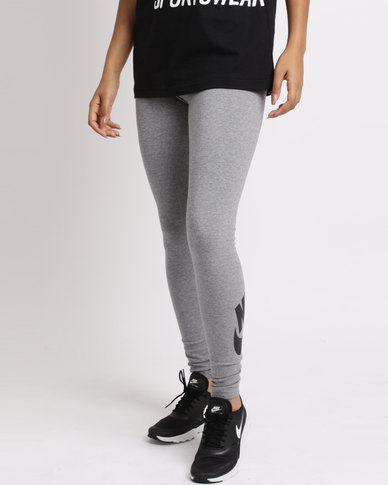 329582d82c3ac Nike Womens NSW Leg A See Leggings Logo Carbon Heather Blue | Zando