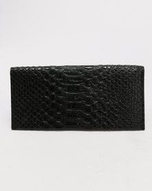 Joy Collectables Snake Skin Wallet Black