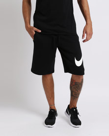 Nike Performance Mens Nike Sportswear Club Explosive Shorts Black/White