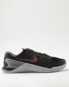 Nike Performance Women's Metcon 3 Black/Multi-Color-Metallic Silver
