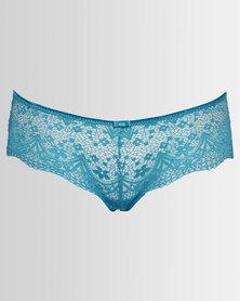 Triumph Allusion Lace Briefs Brazilian Blue