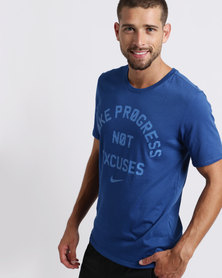 Nike Performance M NK Dry Tee DFC No Excuses Blue