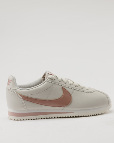 8971b3dd647b Nike Womens Classic Cortez Leather Light Bone