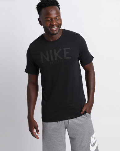 f87d2441b17588 Nike Mens Sportswear Ho Art Tee Black
