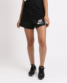Nike Womens N SW Shorts Zip Archive Black