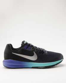 Nike Performance Nike Air Zoom Structure 21 Women's Running Shoe Blue/Silver