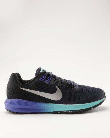 5184b8be0da Nike Performance Nike Air Zoom Structure 21 Women s Running Shoe  Blue Silver