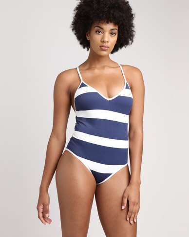 Women'secret Tankini Sev Blue and White