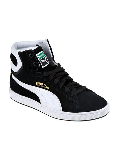 1a5da127de1 Puma First Round Shoe Black White
