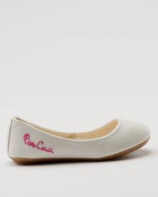 Pierre Cardin Girls Casual Pumps White