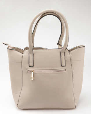 Blackcherry Bag Structured Tote Taupe ad2d6a81468c7