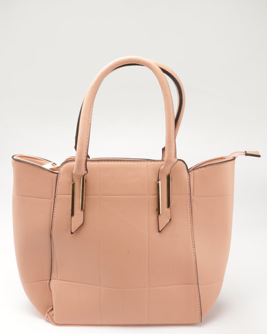 Blackcherry Bag Structured Tote Dusty Pink