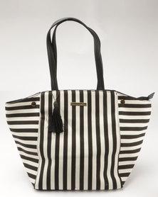 Blackcherry Bag Stripe Tote Black/White
